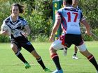 WINNING COMBINATION: One of three Tweed Coast recruits in Lower Clarence Magpies colours, Nic Rudman sidesteps a Kyogle player.