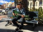 RIGHT CHORD: Musician Sheish Money has been taking his tunes to the streets of Warwick, busking on Palmerin St.