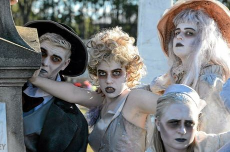 KOOKY MUSICAL: Shalom College is putting on an Addams Family musical.Photo Paul Beutel