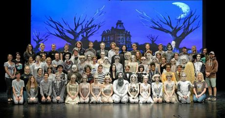 KOOKY MUSICAL: The cast of the Addams Family musical.Photo Paul Beutel