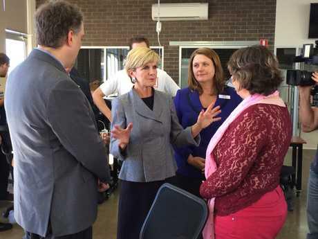 Julie Bishop visits Fire Station 101