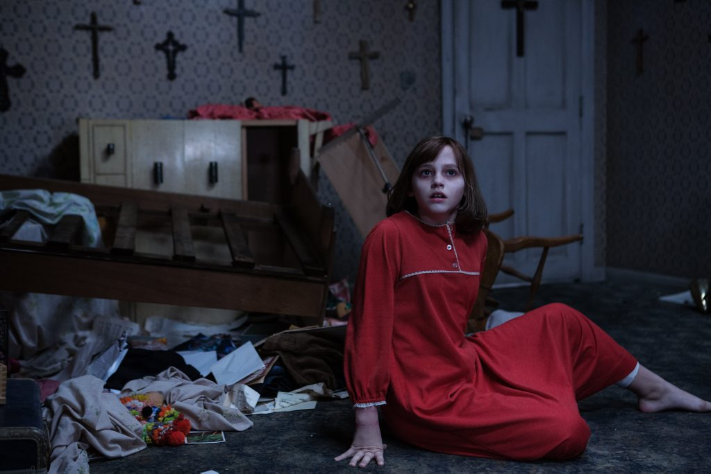 Madison Wolfe in a scene from the movie The Conjuring 2: The Enfield Poltergeist.