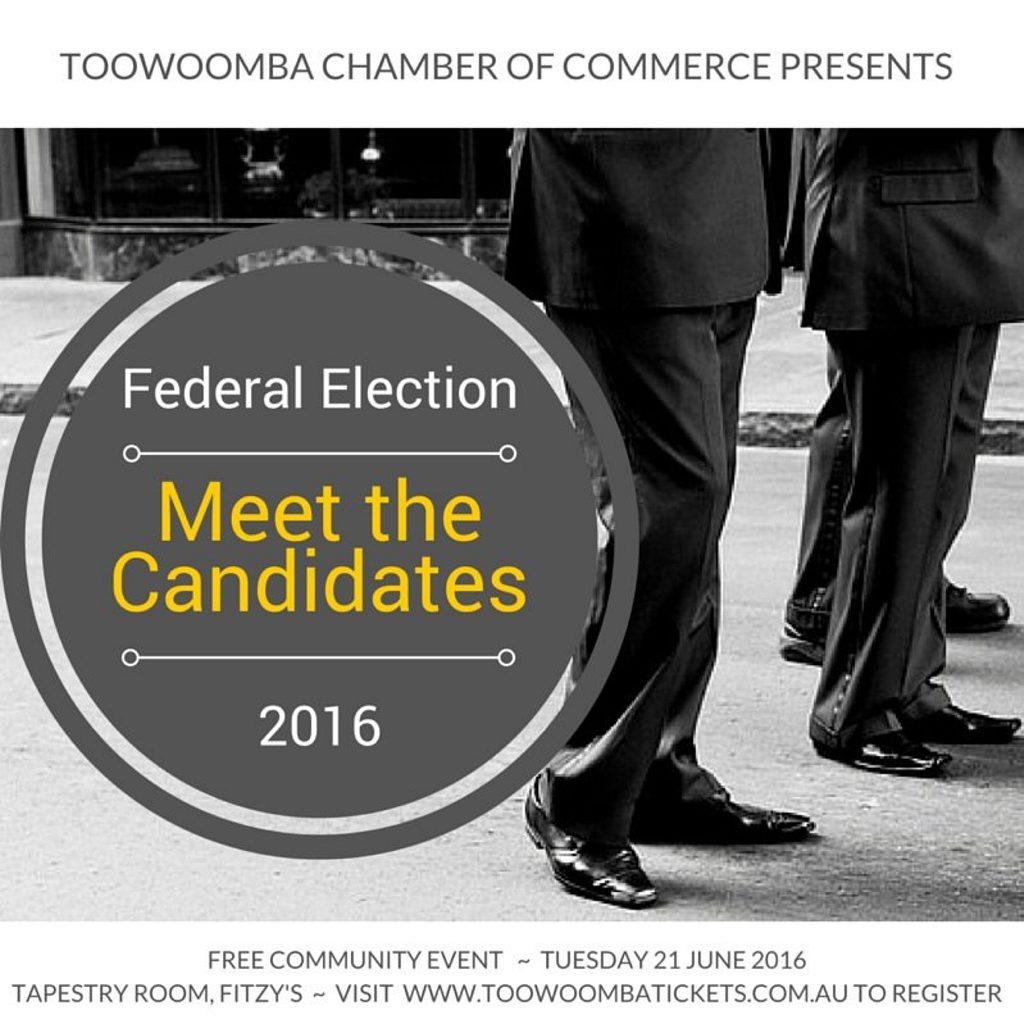 Meet the Candidates forum logo.