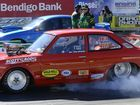 Andrew Everding in the super sedan class at the Winternats on Thursday.