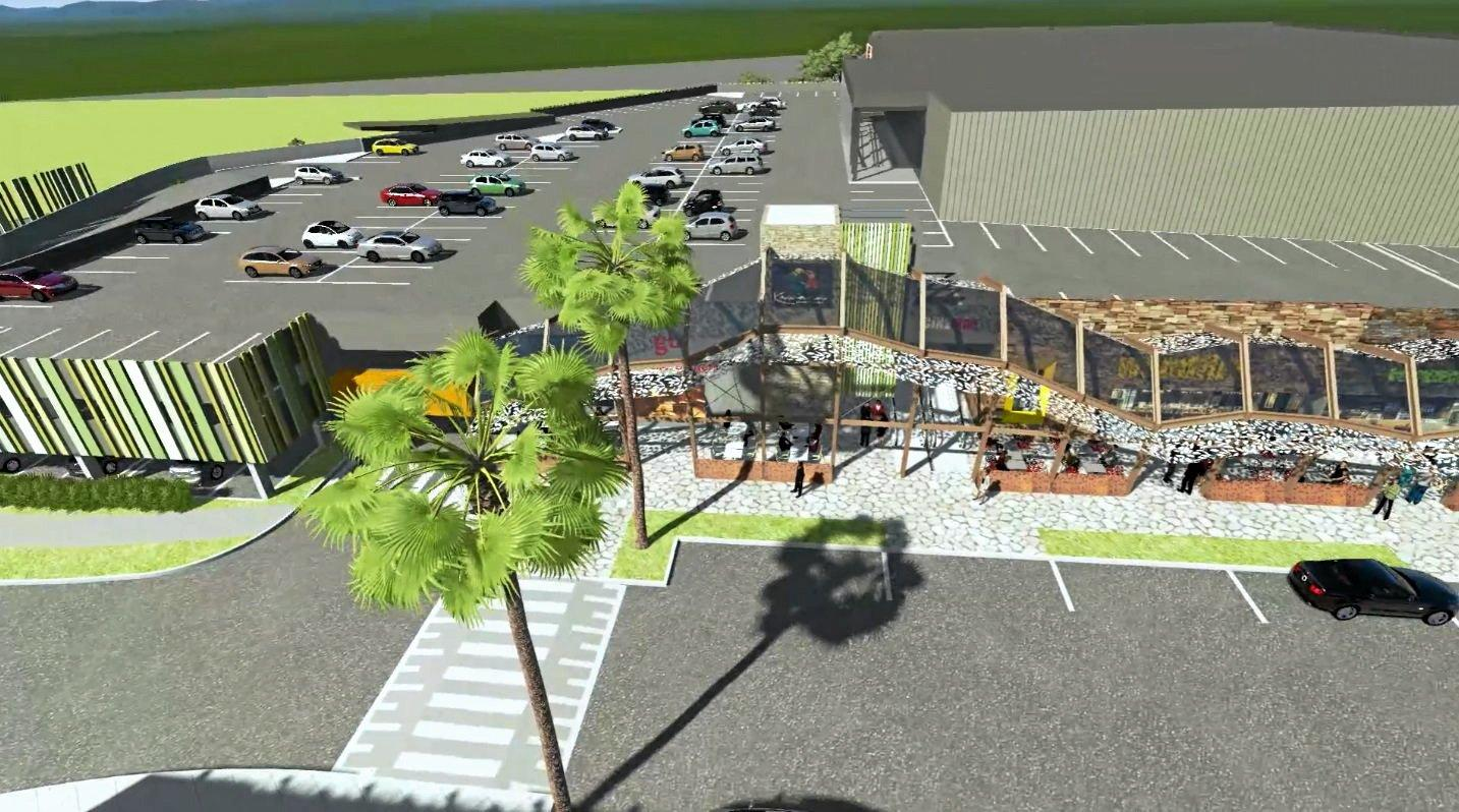 Conceptual images for the planned expansion of Kawana Shoppingworld.