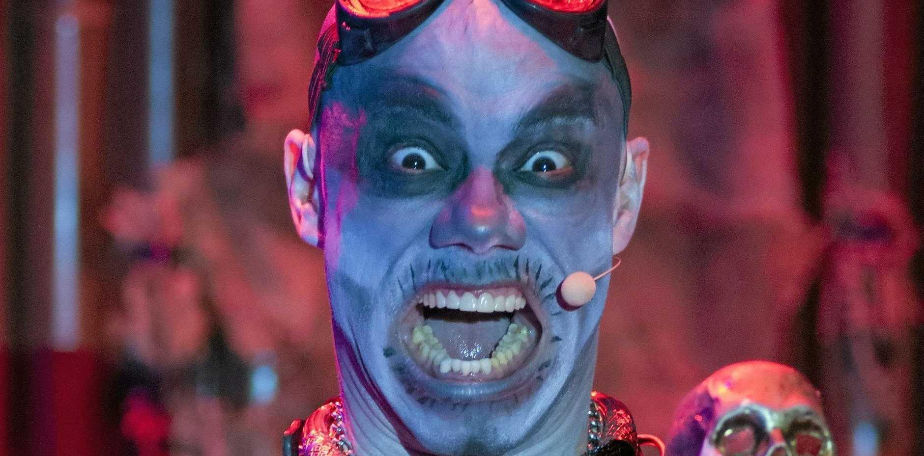 MAD MUSIC MAN: James Berkley Harrison III in character as Doctor Moron.