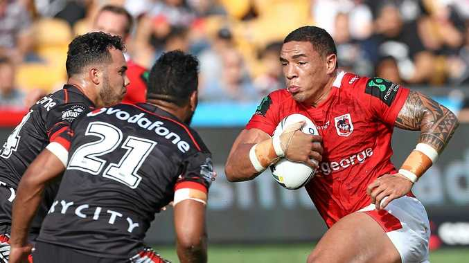 POSSIBLE CHOICE: Tyson Frizell of the Dragons is in line to replace the injured Boyd Cordner for Origin II.