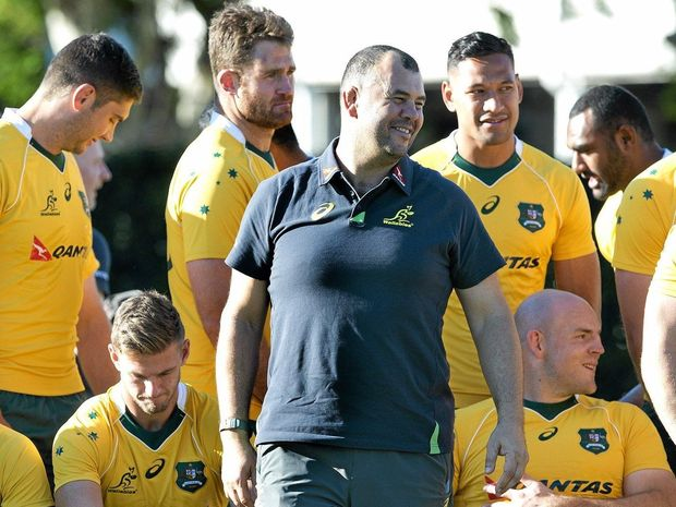 Michael Cheika (centre) has named his team to face England.