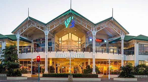 The woman was pushed and punched outside Cairns Central Shopping Centre