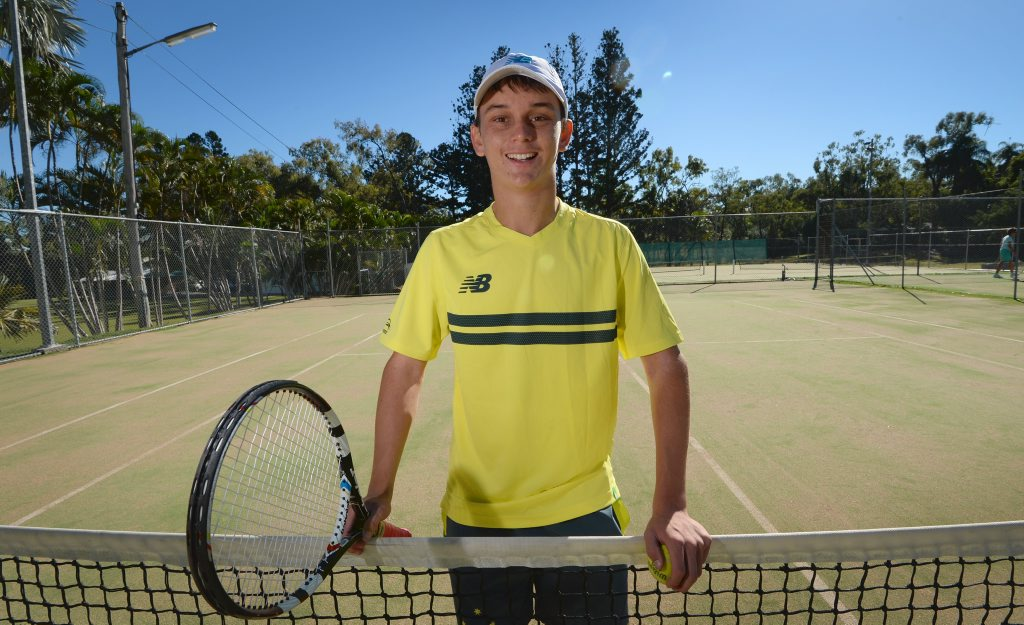 Josh Holloway will be representing Australia at th INAS World Tennis Championships in American. Photo: Chris Ison / The Morning Bulletin