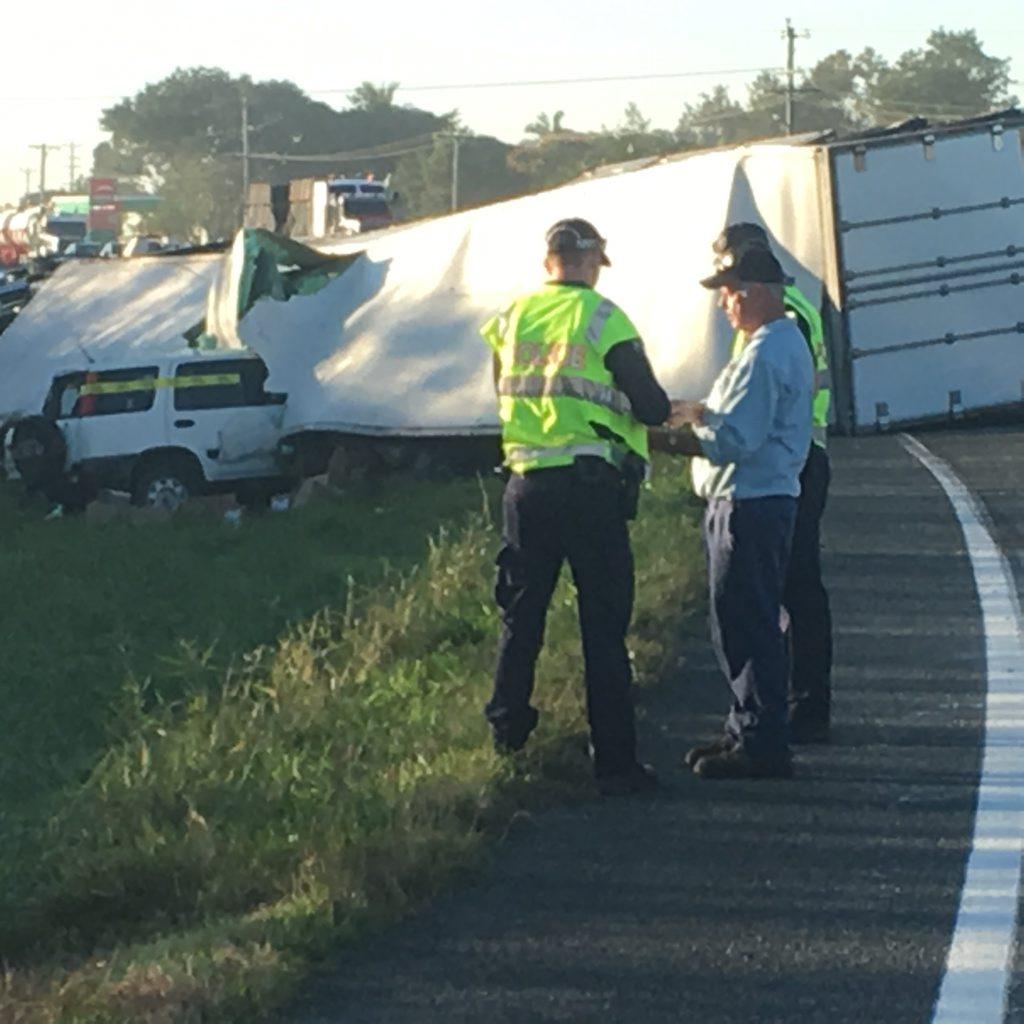 Crash south of Mackay.