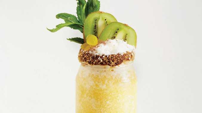 Make your own pina colada at home.