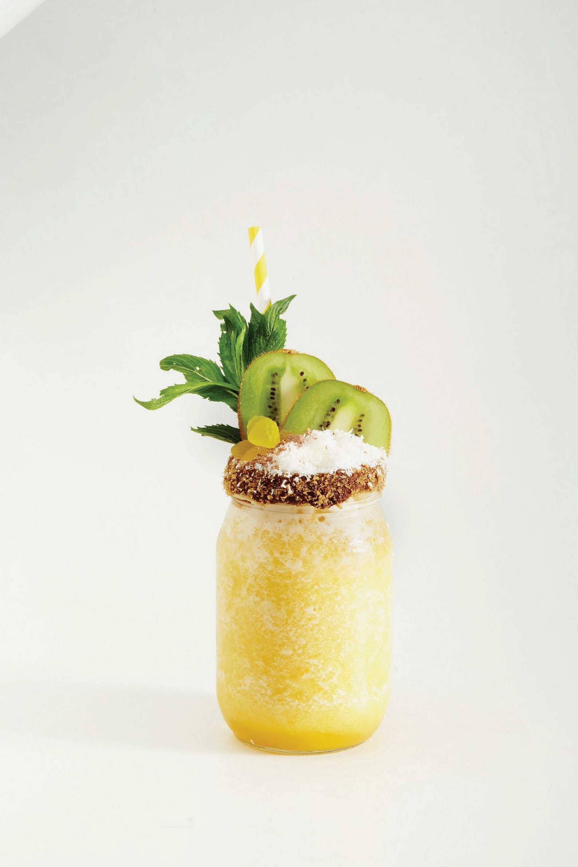 Make your own pina colada at home.