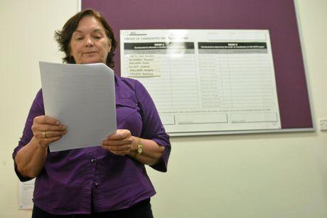 The Australian Electoral Commission's Vicki Kapernick presiding over the election ballot.