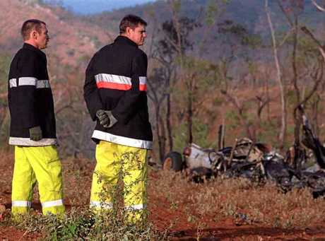 DISASTER FLIGHT: Wreckage of the Blackhawk helicopter crash, June 13, 1996, 70km north of Townsville.