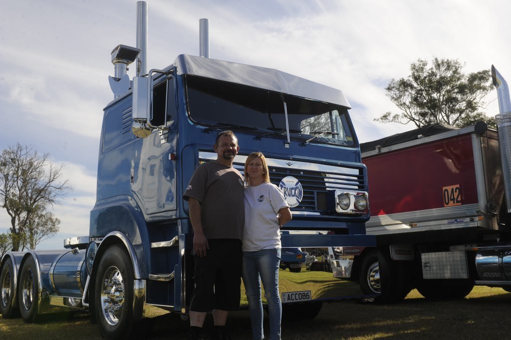 Michael and Melissa Lake with Truck'in Stainless.