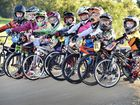 Bmx - Maryborough Classic - local kids (L) Samson Sharp, Claudia Rankin, Darcy Rankin, Jarrah Kelly, Kobi Bastavle, Tillie van Gerrisheim, Colton Blyth and Alex and Levi Bayntun. Photo: Alistair Brightman / Fraser Coast Chronicle