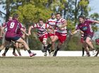 Fullback Ben Tuesley on the charge for Toowoomba Rangers in today's round 10 Risdon Cup match against Toowoomba Bears at Heritage.