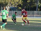 Jets midfielder Brodie MacDonald. Fraser Coast League 2nd Div Mens: KSS Jets v Maryborough West. Jets won 5-2.Photo Matthew McInerney / Fraser Coast Chronicle