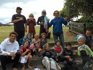 Thrill for grommets as surfing star drops in