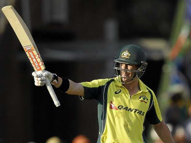 David Warner hits his first ODI century on foreign soil.