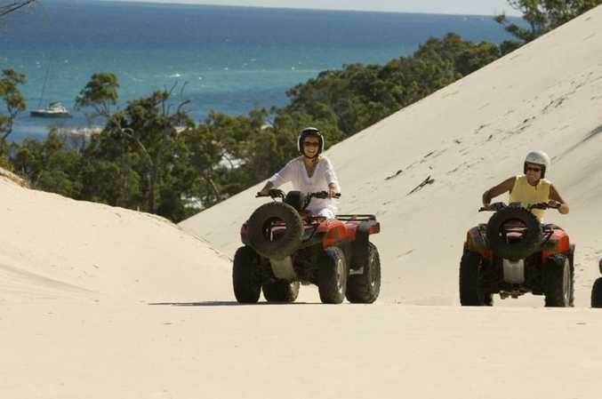 Explore Moreton Island by dune buggy. Photo Contributed