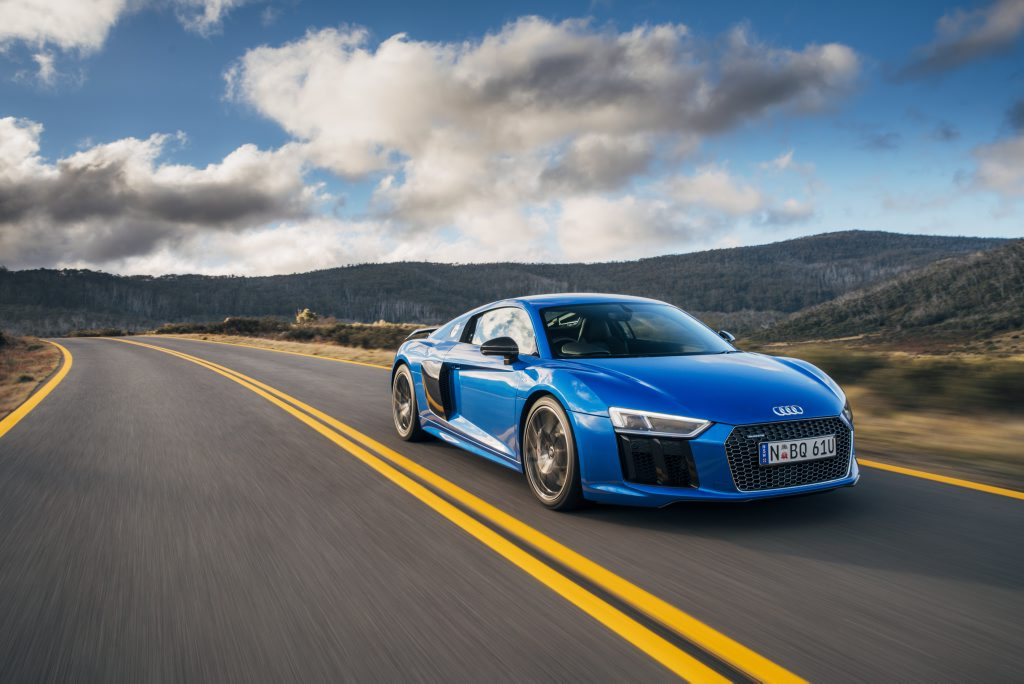 ALL PURE: Audi's ballistic R8 stays true to normally aspirated engines with its 397kW and 449kW non-turbo V10s, all wrapped in a gorgeous design