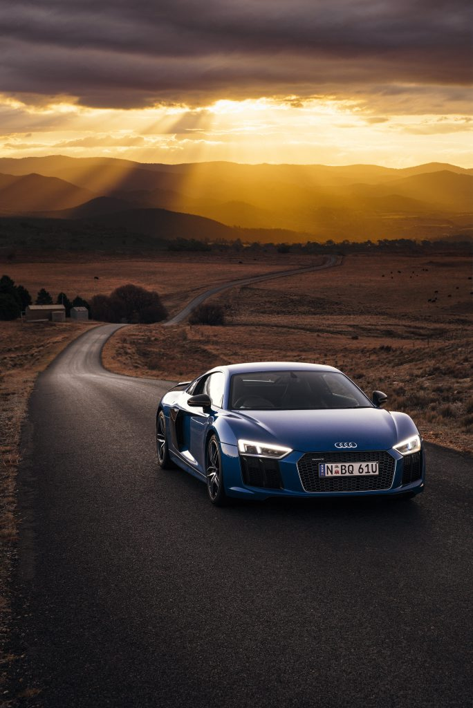 The Audi R8 Plus is the range-topping model, with a retail price of $389,900.