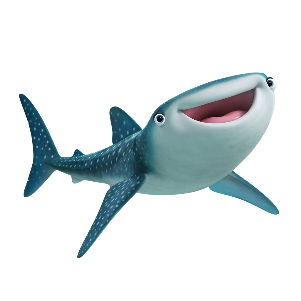 The character Destiny ( Kaitlin Olson) is a whale shark in the movie Finding Dory.