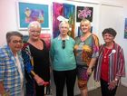 Toukley and District Art Society president Ann Sonter (second from left) with members of the organising committee at the opening of the art exhibition