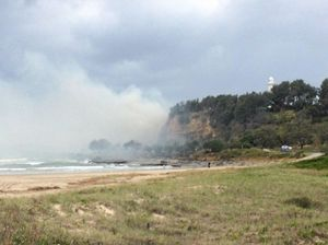 Grass fire at Turners Beach