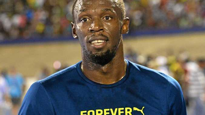 RECORD HOLDER: Usain Bolt, of Jamaica, at the Racers Grand Prix track and field event at the National Stadium in Kingston, Jamaica, this month.