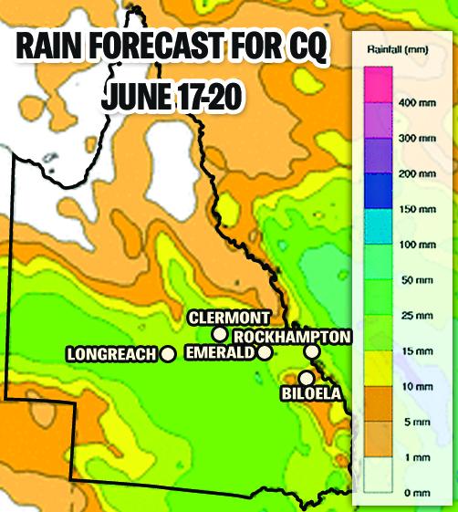 Rain forecast for CQ June 17-20.