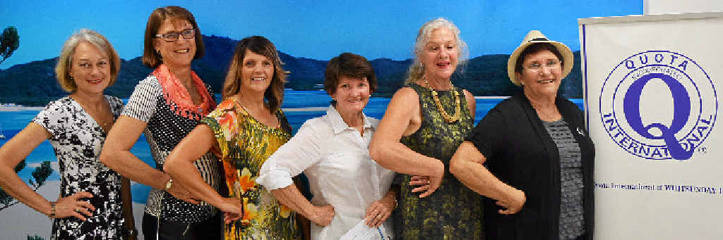 LADIES WHO LUNCH: Whitsunday Quota ladies at the 2015 Long Lunch.
