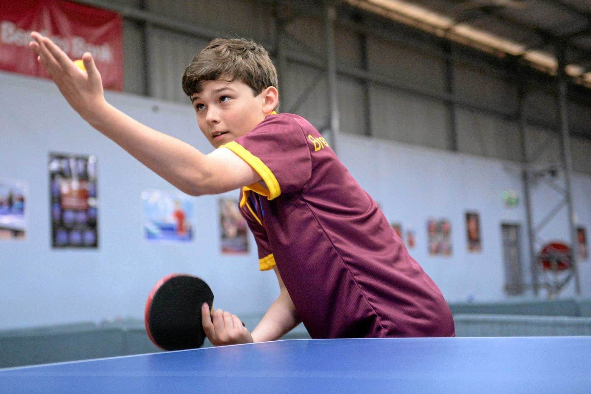 TABLE TENNIS: Brendan Connolly came from a game down to beat Shain Green.
