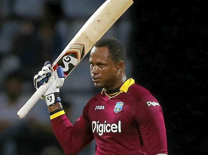 TOP KNOCK: West Indies all-rounder Marlon Samuels scored 92 as his side downed Australia.
