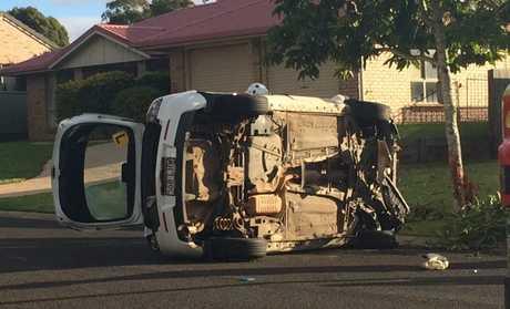 A traffic crash in Middle Ridge, Toowoomba.