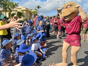 12 days after jaw break, Gladstone woman is Maroon mascot