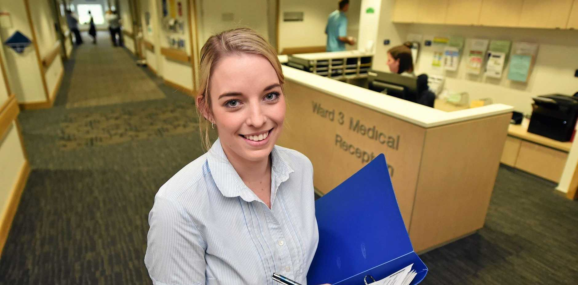 WORTHY AWARD: Ashleigh Coombs, a registered nurse working at the Sunshine Coast University Private Hospital, welcomed news that nursing has been named the most trustworthy profession in Australia .