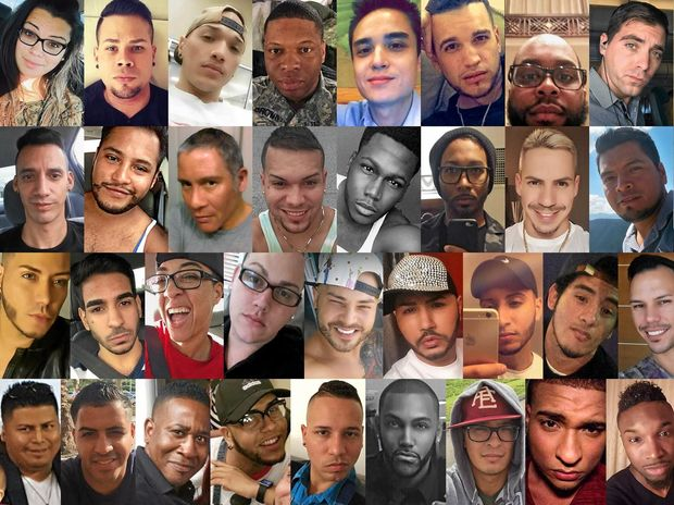 LOST: Faces of some of the dozens killed in a mass shooting early Sunday, June 12, 2016 at the Pulse gay nightclub in Orlando, Florida.