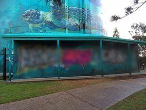 Graffiti vandals target Coast landmark