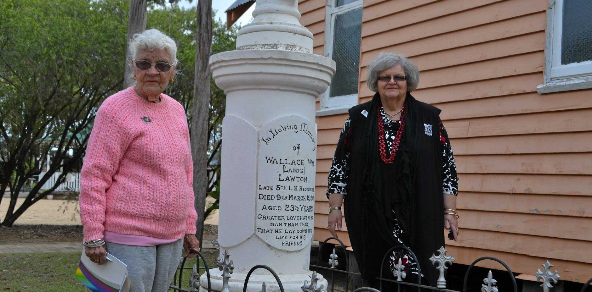 DIGGING INTO HISTORY: Merlene Coates-Freeman and Anne Croft from Murilla History Group are working to identify the lone graves in the Miles region.