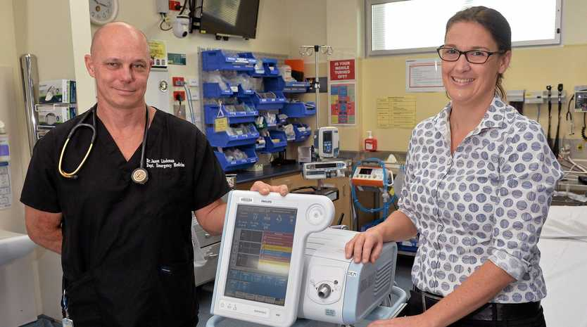 Wishlist foundation are fundraising with the support of  Director of Gympies's emergency department Doctor Jason Lindeman and clinical nurse Lyndall Britton for another bipap ventilator for Gympie's Hospital public health services.