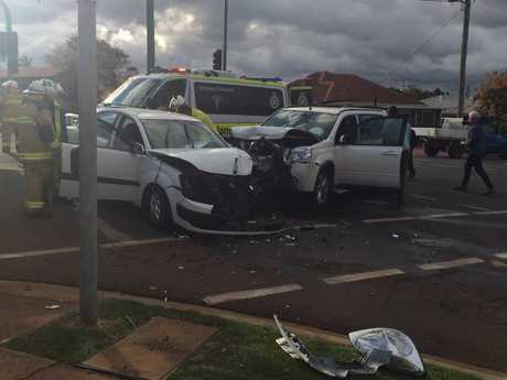 Witnesses to this crash were treated for shock.