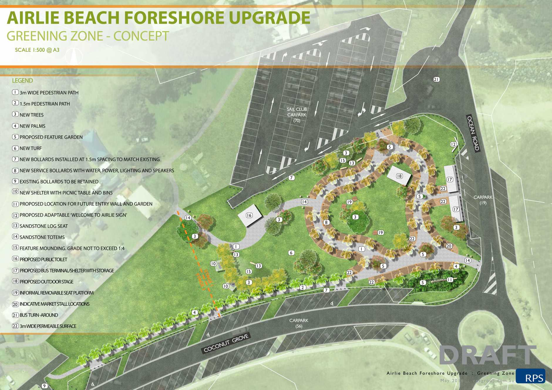 The Airlie Beach foreshore proposal as it currently stands.