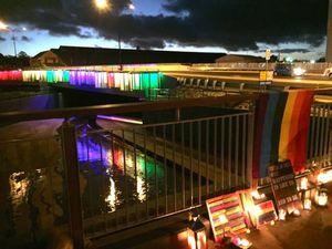 Toowoomba landmark lights up for Orlando victims