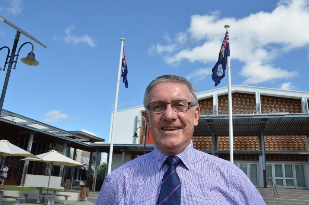 CONFIDENCE UP: Keith Campbell told council that business confidence was up since the last 12 months.