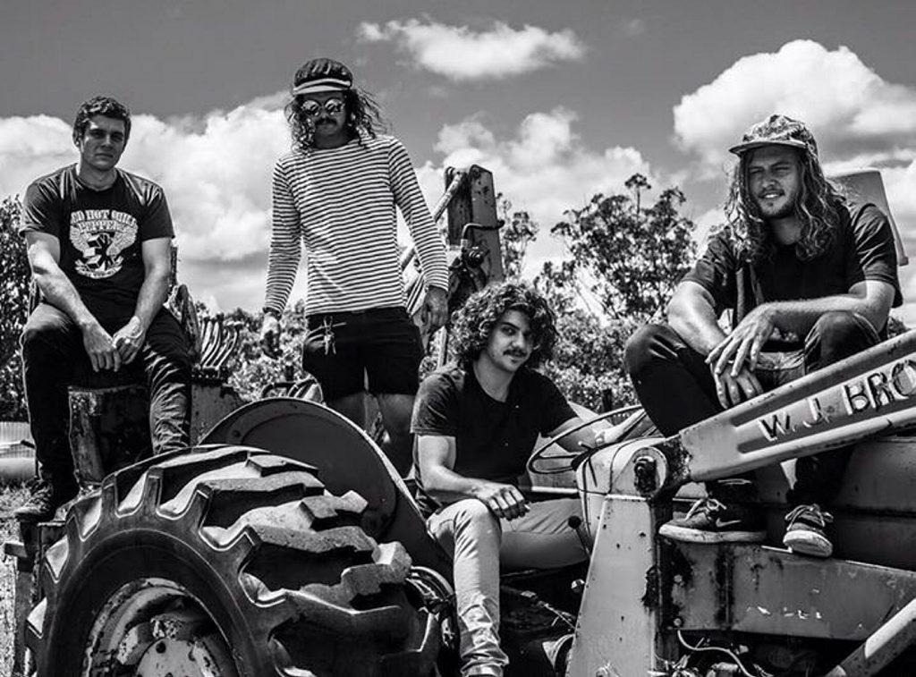 TOUR: Young Dingoes Brad Durrant, Jordy Carr, Ash Travaini and Jarred Hahn.