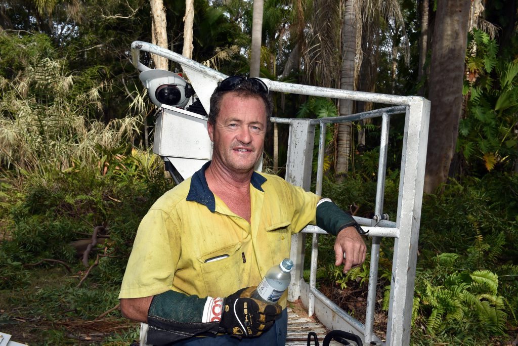 Ten kilograms down - Cutting sugary drinks has given treelopper Geoff Shaw a new lease on life. Photo: Valerie Horton / Fraser Coast Chronicle