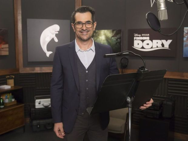 Ty Burrell pictured in the studio during his work on the movie Finding Dory.
